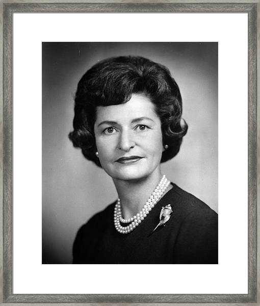 Lady Bird Johnson Framed Print by Hulton Archive