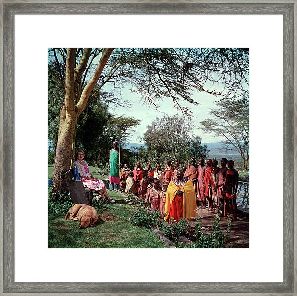 Lady Hamilton Framed Print by Slim Aarons