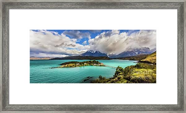 Lago Pehoe, Chile Framed Print