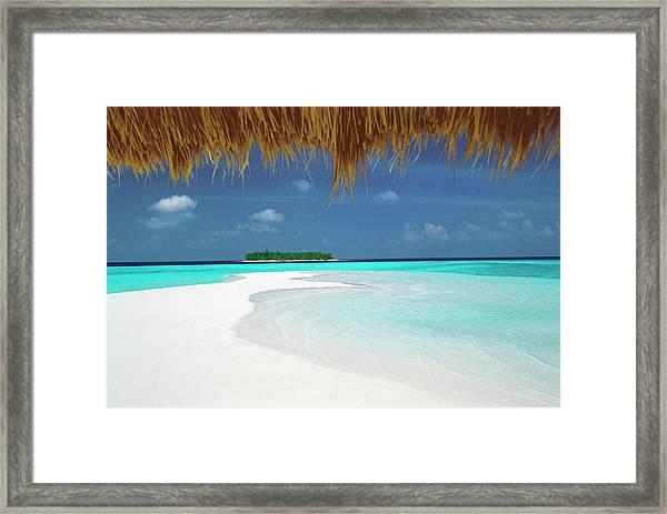 Lagoon And Tropical Island View From Framed Print