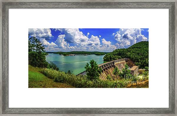 Lake Allatoona Dam Framed Print