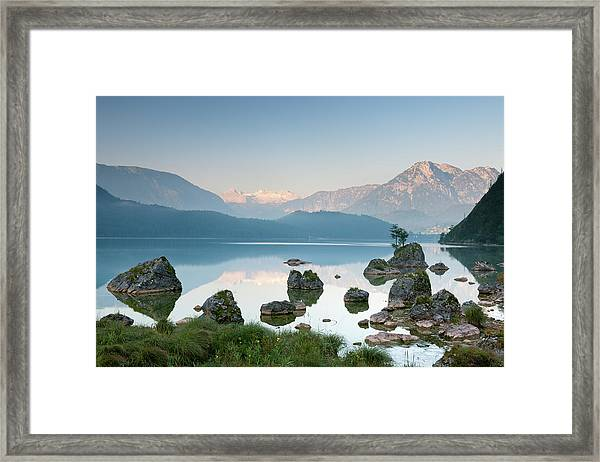 Lake Altaussee With Glacier Dachstein Framed Print by 4fr