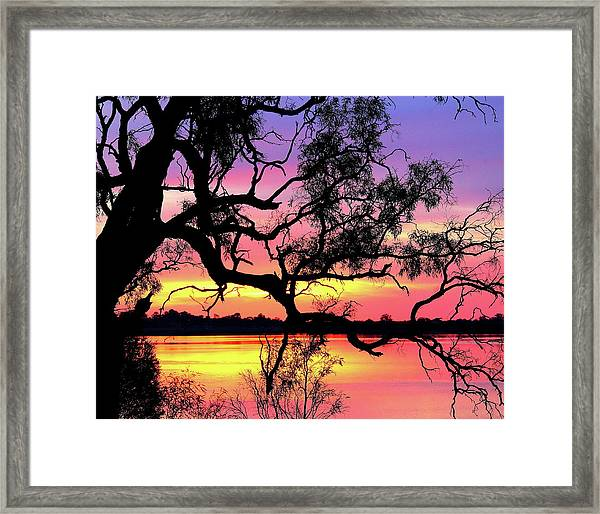 Lake Bonney Sunset Framed Print