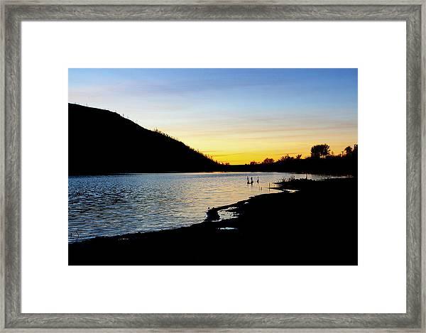 Lake Cuyamaca Sunset Framed Print