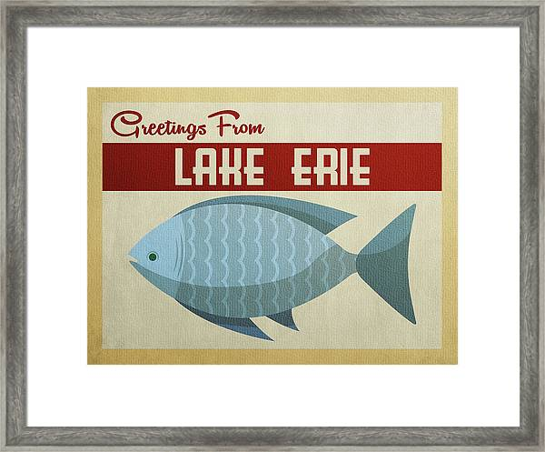 Lake Erie Blue Fish Framed Print