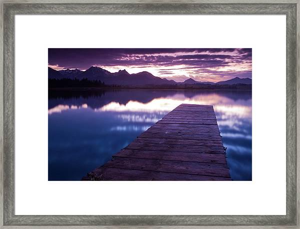 Lake Hopfensee Framed Print