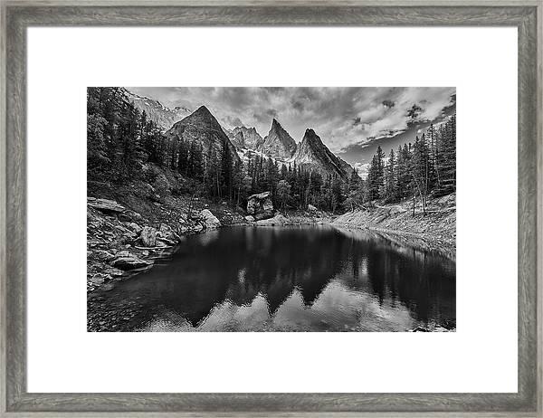 Lake In The Alps Framed Print