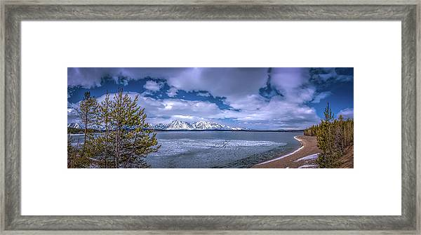 Lake Jackson Wyoming Framed Print