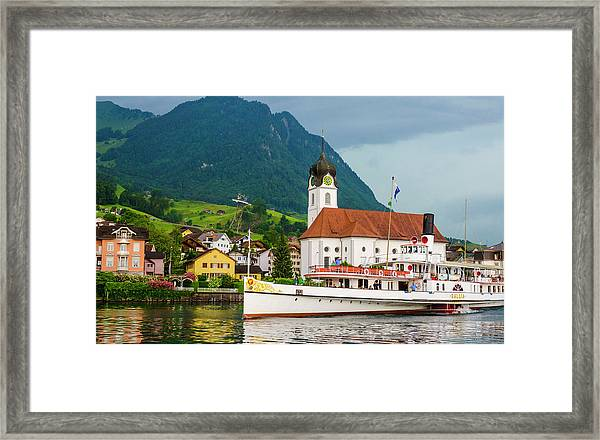 Lake Lucerne Steamer Framed Print