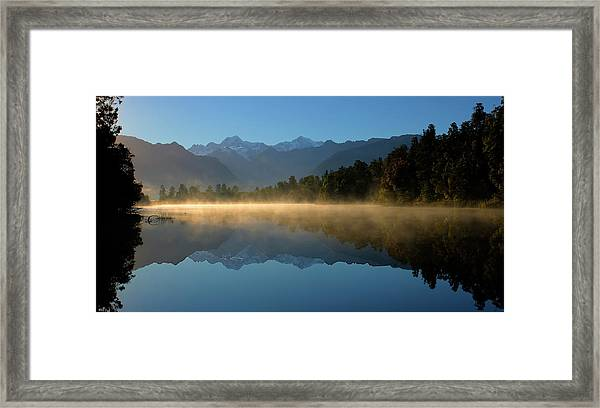 Lake Matheson Morning Framed Print