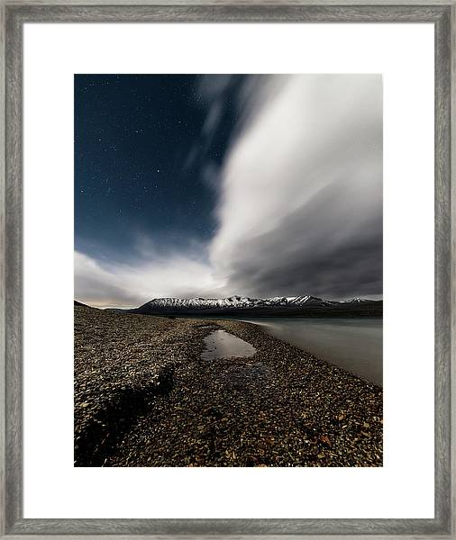 Lake Mcdonald Storm Framed Print