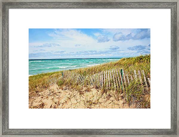 Lake Michigan Beachcombing Framed Print