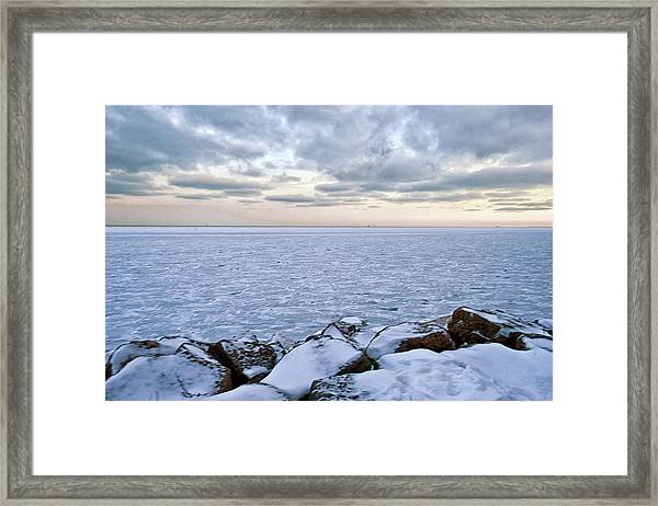 Lake Michigan Framed Print by By Ken Ilio