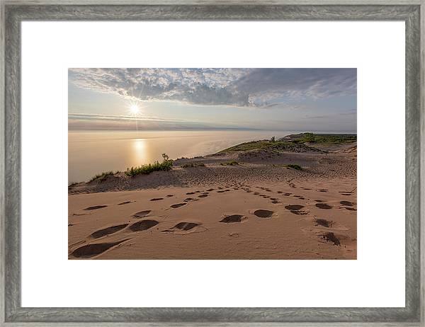 Lake Michigan Overlook 10 Framed Print