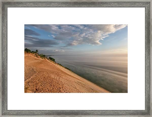 Lake Michigan Overlook 11 Framed Print