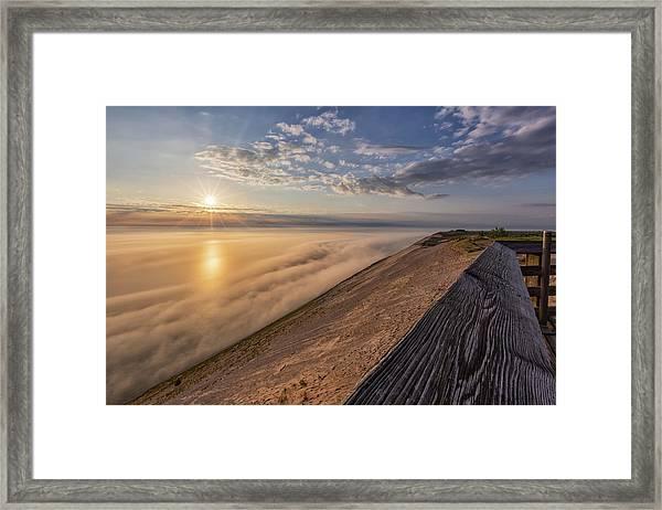 Lake Michigan Overlook 12 Framed Print