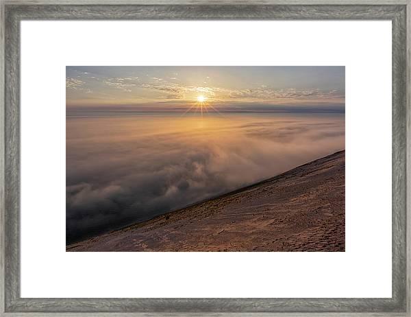 Lake Michigan Overlook 13 Framed Print