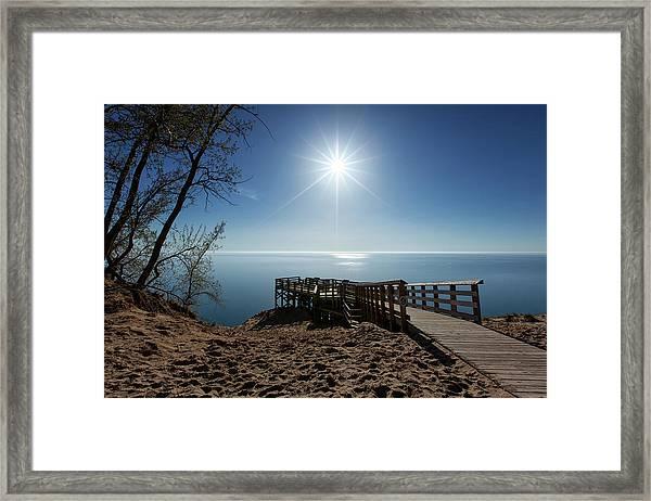 Lake Michigan Overlook 2 Framed Print