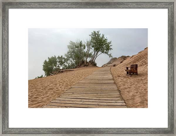Lake Michigan Overlook 3 Framed Print