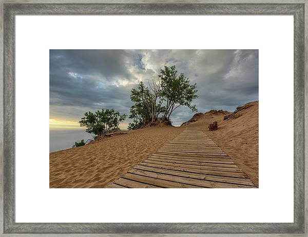 Lake Michigan Overlook 4 Framed Print