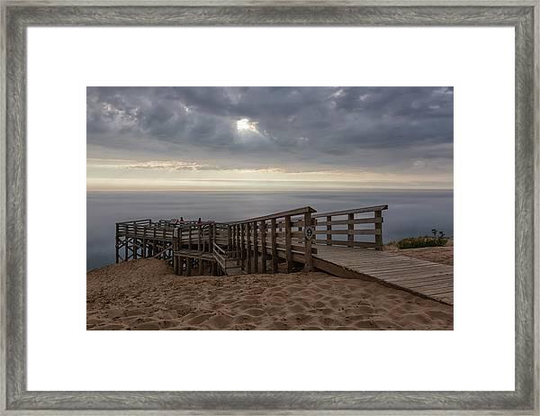 Lake Michigan Overlook 6 Framed Print