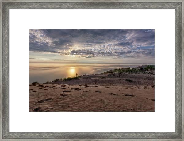 Lake Michigan Overlook 9 Framed Print