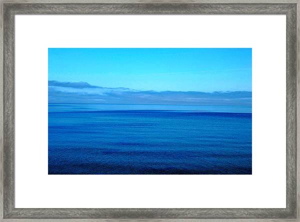 Lake Superior Blue Framed Print