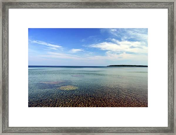 Lake Superior Rocks Framed Print