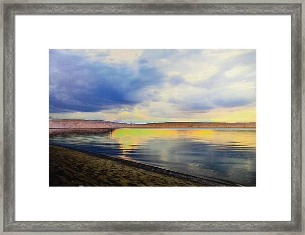 Lake Superior Sunset Framed Print