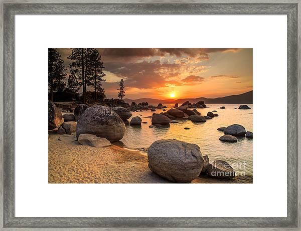 Lake Tahoe At Sunset Framed Print