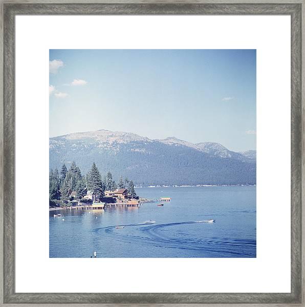 Lake Tahoe Framed Print by Slim Aarons