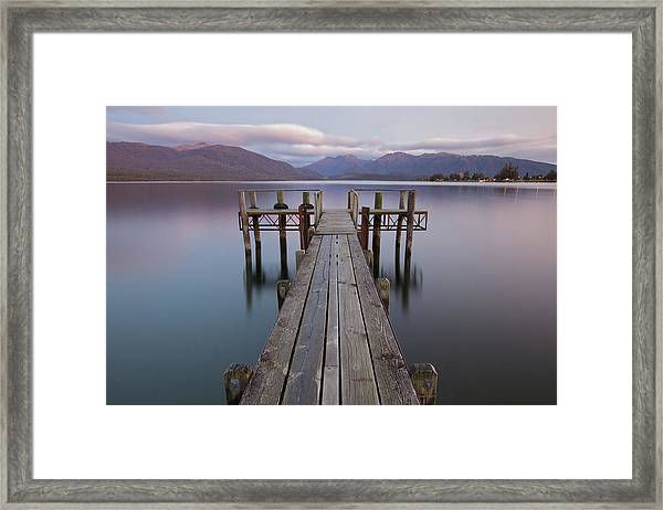 Lake Te Anau Jetty Framed Print