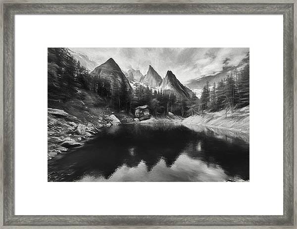 Lake Verde In The Alps IIi Framed Print
