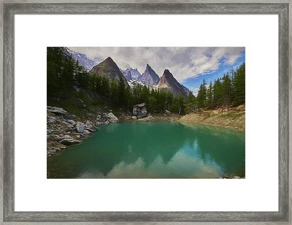 Lake Verde In The Alps II Framed Print