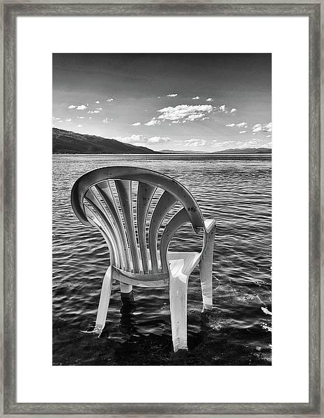 Lakeside Waiting Room Framed Print