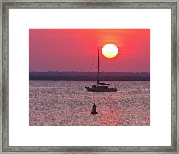 Lame Monroe Sunset-5140 Framed Print