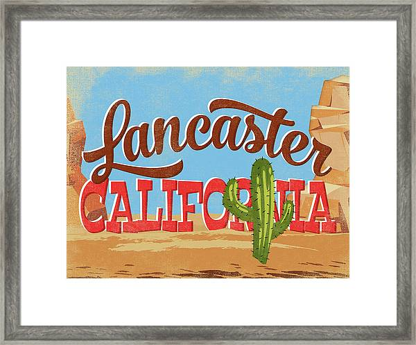 Lancaster California Cartoon Desert Framed Print