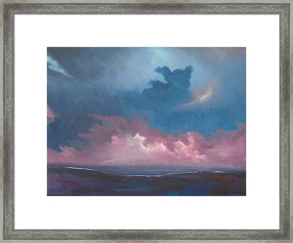 Land Meets The Sea Framed Print