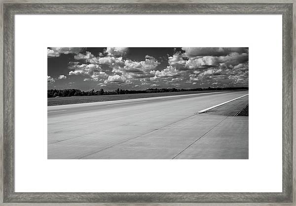 Landing Track Framed Print