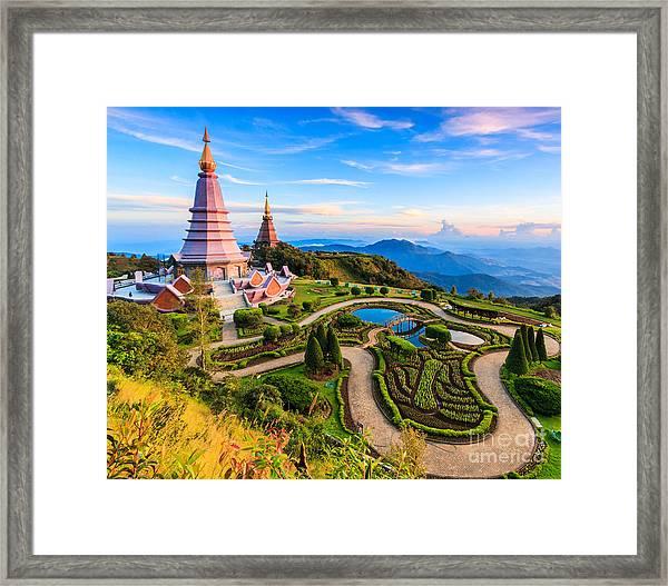 Landmark Unseen Thailand  Pagoda In Framed Print