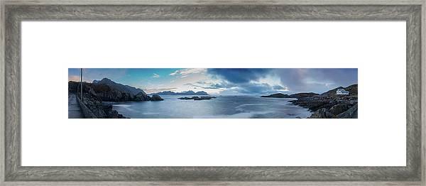 Landscape In The Lofoten Islands Framed Print