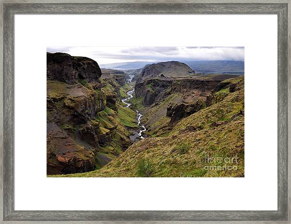 Landscape Of Canyon And River In Framed Print by Vaclav P3k