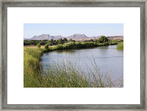 Landscape Of The Rio Grande River Framed Print
