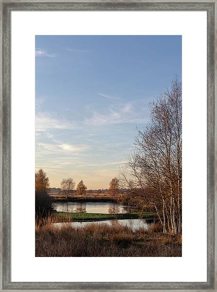 Framed Print featuring the photograph Landscape Scenery by Anjo Ten Kate
