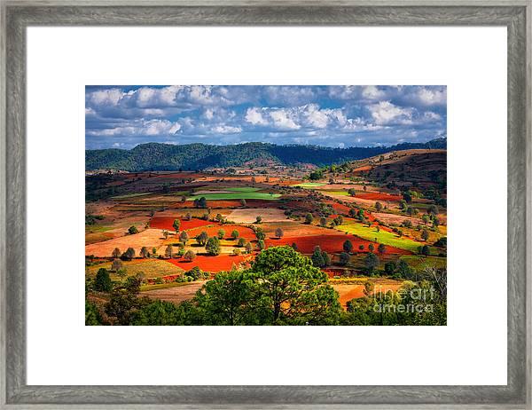 Landscapes Of Shan State, Myanmar Framed Print