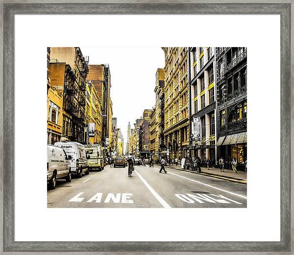 Lane Only  Framed Print