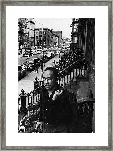 Langston Hughes On The Stoop Framed Print
