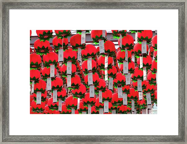 Lanterns In Bongeunsa Temple Framed Print by Jean-philippe Ronc