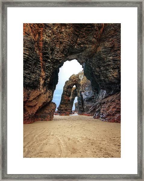 Las Catedrales Beach Framed Print