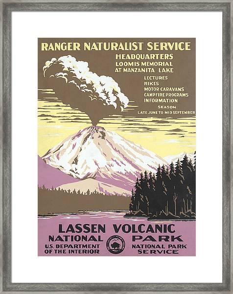 Lassen Park Travel Poster Framed Print